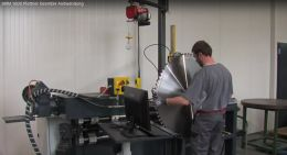 NEW video of machine for straightening, testing and tension-milling of saw blades